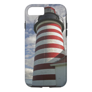USA, Maine, Lubec. West Quoddy Head LIghthouse iPhone 8/7 Case