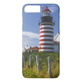 USA, Maine, Lubec. West Quoddy Head Lighthouse iPhone 8 Plus/7 Plus Case
