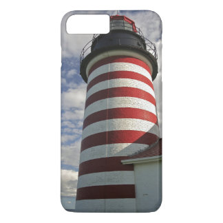 USA, Maine, Lubec. West Quoddy Head LIghthouse iPhone 8 Plus/7 Plus Case