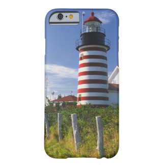 USA Maine Lubec West Quoddy Head Lighthouse iPhone 6 Case