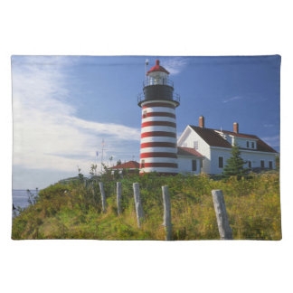 USA, Maine, Lubec. West Quoddy Head Lighthouse Placemat