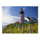 USA, Maine, Lubec. West Quoddy Head Lighthouse Postcard