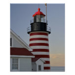 USA, Maine, Lubec. West Quoddy Head Lighthouse, Poster