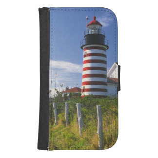 USA, Maine, Lubec. West Quoddy Head Lighthouse Samsung S4 Wallet Case