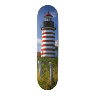 USA, Maine, Lubec. West Quoddy Head Lighthouse Skate Board Decks
