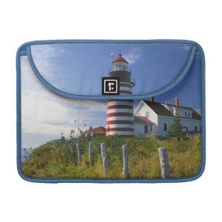 USA, Maine, Lubec. West Quoddy Head Lighthouse Sleeve For MacBook Pro