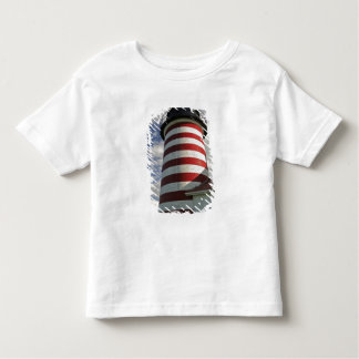 USA, Maine, Lubec. West Quoddy Head LIghthouse Toddler T-Shirt
