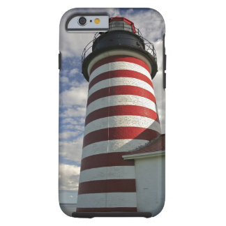 USA, Maine, Lubec. West Quoddy Head LIghthouse Tough iPhone 6 Case