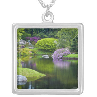 USA, Maine, Northeast Harbor. View of Asticou 2 Silver Plated Necklace