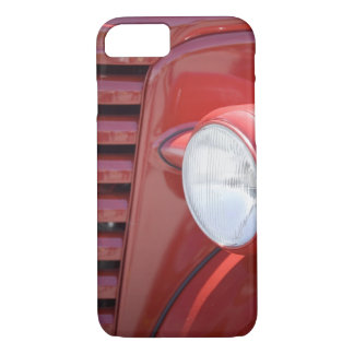 USA, Maine, Owl's Head. Headlight and partial iPhone 7 Case