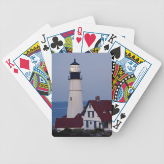 USA, Maine, Portland, Cape Elizabeth, Lighthouse Bicycle Playing Cards