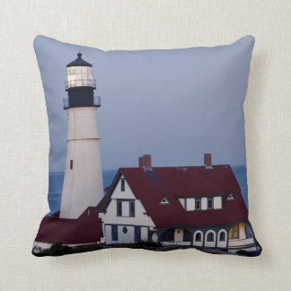 USA, Maine, Portland, Cape Elizabeth, Lighthouse Cushion