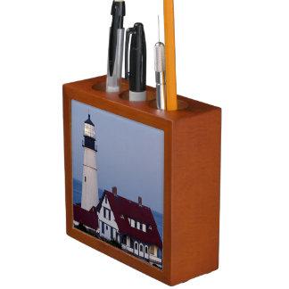 USA, Maine, Portland, Cape Elizabeth, Lighthouse Desk Organiser