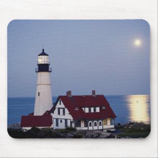 USA, Maine, Portland, Cape Elizabeth, Lighthouse Mouse Mat
