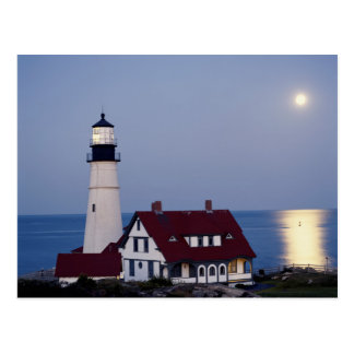 USA, Maine, Portland, Cape Elizabeth, Lighthouse Postcard