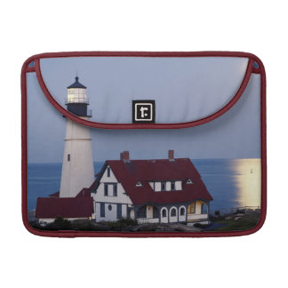 USA, Maine, Portland, Cape Elizabeth, Lighthouse Sleeve For MacBook Pro