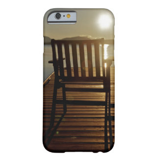 USA, Maine, Rockwood. A chair with a view of Barely There iPhone 6 Case