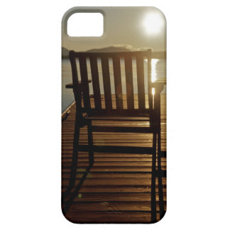 USA, Maine, Rockwood. A chair with a view of iPhone 5 Covers