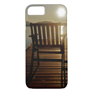 USA, Maine, Rockwood. A chair with a view of iPhone 8/7 Case