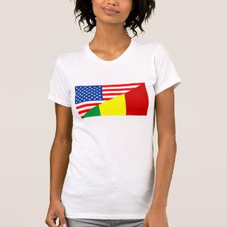 usa mali country half flag america symbol T-Shirt
