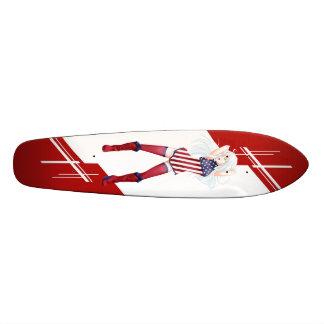 USA Manga girl dressed in Flag - America Skate Board Deck