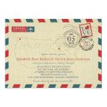 USA Map Airmail Wedding Invitation 13 Cm X 18 Cm Invitation Card