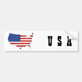 USA map Bumper Sticker