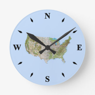 USA Map Clock