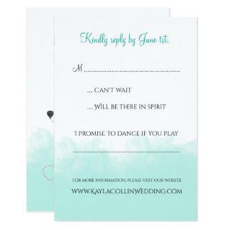 USA Map Destination Wedding Invitation RSVP