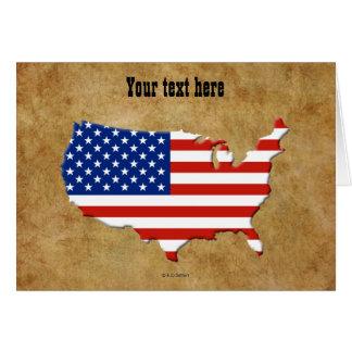 USA map Greeting Card