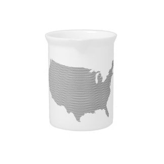 USA Map Halftone Silhouette Drink Pitchers