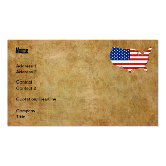 USA map Pack Of Standard Business Cards