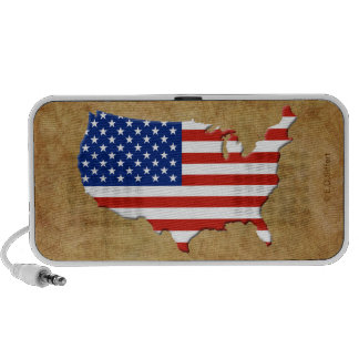 USA map Travel Speaker