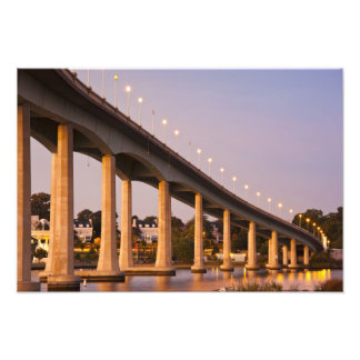 USA, Maryland, Annapolis. Severn River bidge, Photo Print