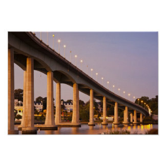 USA, Maryland, Annapolis. Severn River bidge, Poster