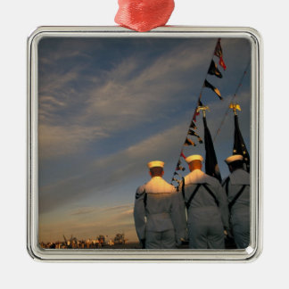 USA, Massachusettes, Boston. US Navy Color Christmas Ornament