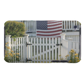 USA, Massachusettes, Gloucester: Patriotic Fence Barely There iPod Covers