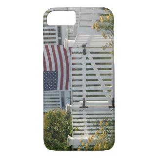 USA, Massachusettes, Gloucester: Patriotic Fence iPhone 7 Case
