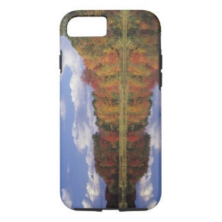 USA, Massachusetts, Acton. Reflection of autumn iPhone 8/7 Case