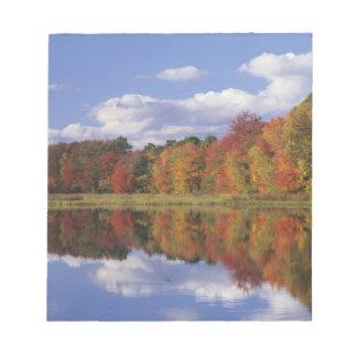 USA, Massachusetts, Acton. Reflection of autumn Notepad