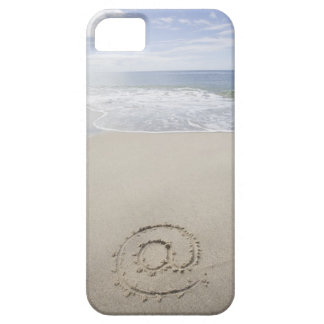 USA, Massachusetts, At sign drawn on sandy beach Barely There iPhone 5 Case