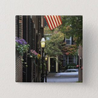 USA, Massachusetts, Boston, Beacon Hill. 15 Cm Square Badge