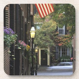 USA, Massachusetts, Boston, Beacon Hill. Beverage Coaster