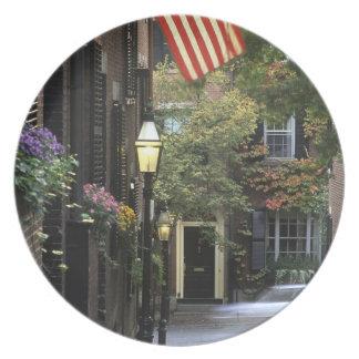 USA, Massachusetts, Boston, Beacon Hill. Party Plates