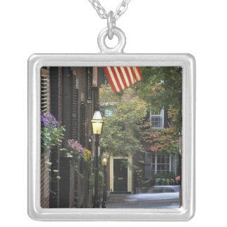 USA, Massachusetts, Boston, Beacon Hill. Silver Plated Necklace