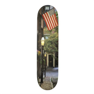 USA, Massachusetts, Boston, Beacon Hill. Skateboards