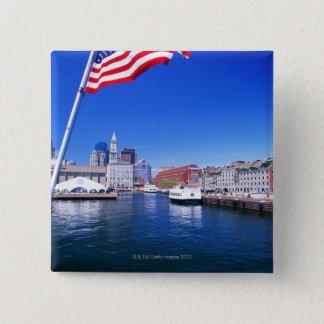 USA, Massachusetts, Boston, Boston harbour, 15 Cm Square Badge