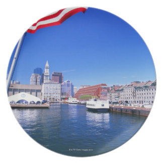 USA, Massachusetts, Boston, Boston harbour, Dinner Plates
