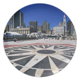 USA, Massachusetts, Boston, Boston harbour Plate
