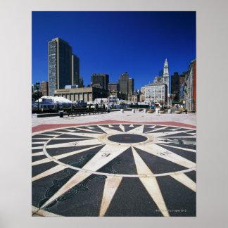 USA, Massachusetts, Boston, Boston harbour Poster